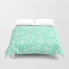 Ab Fan Mint Duvet Cover