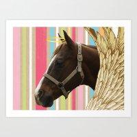 Holy Horse Art Print