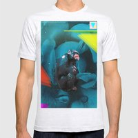 Space Chimp Mens Fitted Tee Ash Grey SMALL