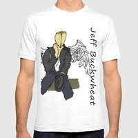 Jeff Buckwheat Mens Fitted Tee White SMALL