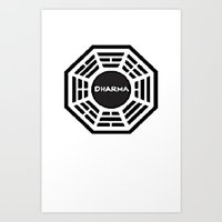 Dharma Initiative Art Print