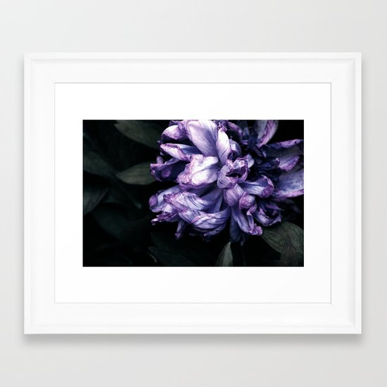 the purple lady Framed Art Print
