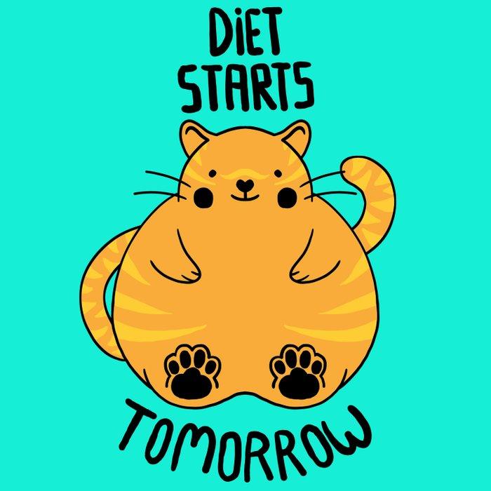 Diet Starts Tomorrow! Canvas Print by Tobe Fonseca | Society6