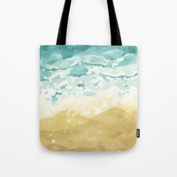 Minimalist Shore - Beach Painting Tote Bag
