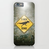iPhone & iPod Case featuring T-Rex Crossing by Peter Gross