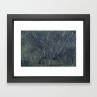 Steel Blue Paper Texture Framed Art Print