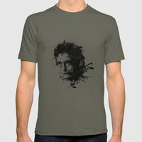 Johnny Cash botanical portrait Mens Fitted Tee Lieutenant SMALL