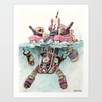 The Submarine Squad Art Print