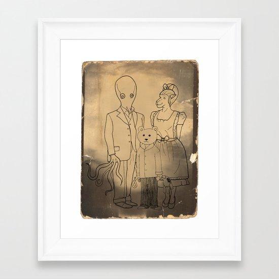 Family Portrait Framed Art Print