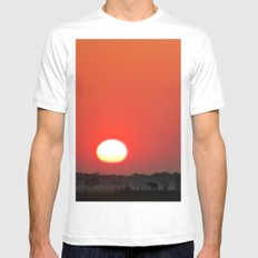 Sunrise SMALL Mens Fitted Tee White