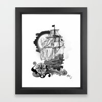 The Sea Route To The Moo… Framed Art Print