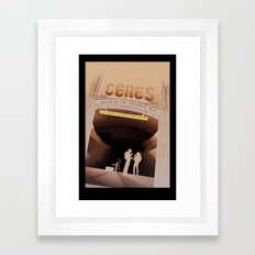 Ceres - NASA Space Travel Posters (Alternative) Framed Art Print