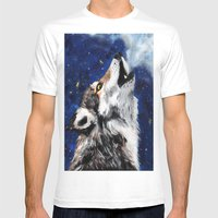 Wolf's Breath Mens Fitted Tee White SMALL