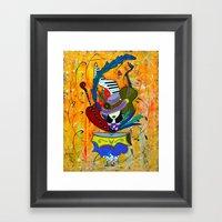 Blooming Glamour Framed Art Print