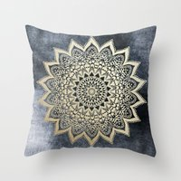 BOHO NIGHTS MANDALA Throw Pillow