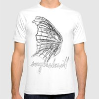MSW Wing #01 Mens Fitted Tee White SMALL