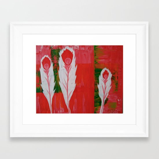 """""""light as a feather"""" Framed Art Print"""