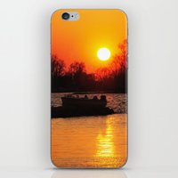 Silhouettes and Fire iPhone & iPod Skin
