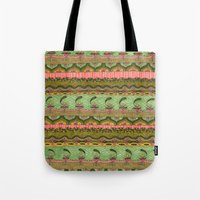 Pink and Green Pattern Tote Bag