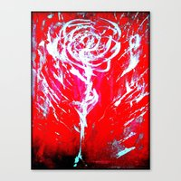 JUSSI FLOWER ROSE Canvas Print
