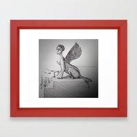 My-thology, the Sphinx Framed Art Print