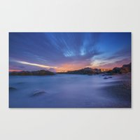 Sunset at the beach Canvas Print