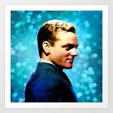 James Cagney, blue screen Art Print