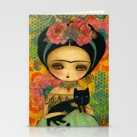 Frida And Her Cat Stationery Cards