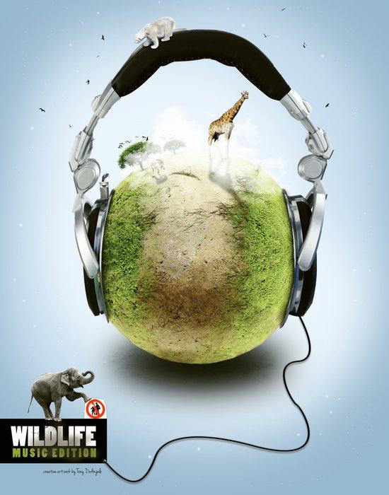 Wildlife Music Edition Art Print