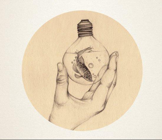 Organic V Art Print
