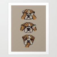Noevil English Bulldog Art Print