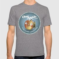 One Apple A Day Mens Fitted Tee Tri-Grey SMALL