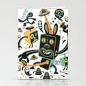 Little Black Magic Rabbit Stationery Cards