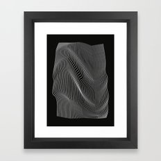 Minimal curves black Framed Art Print