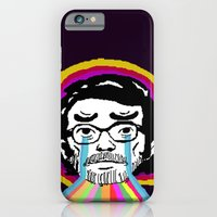 iPhone Cases featuring A man with a broken spirit by Allan Valdez