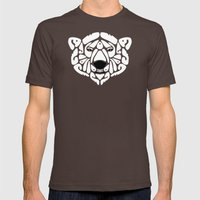 An Béar Bán (The White Bear) Mens Fitted Tee Brown SMALL