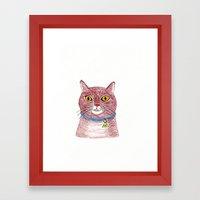 Crazy Cat Framed Art Print