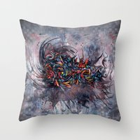 Abstract Wash 3 Throw Pillow