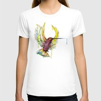 #Colisbry Womens Fitted Tee White SMALL