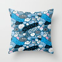 Snooze & Lose Throw Pillow