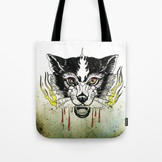 Space Cat King Fire Tote Bag