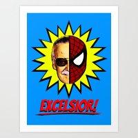 EXCELSIOR!     Stan Lee … Art Print