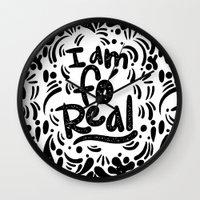 I Am Fo' Real Wall Clock