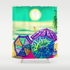 Sea Glass Cheers! Shower Curtain