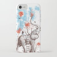 elephants iPhone & iPod Cases featuring A Happy Place by Norman Duenas