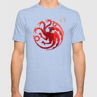 Mother of Dragons Mens Fitted Tee Tri-Blue SMALL