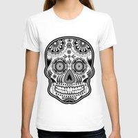 sugar skull T-shirts featuring sugar skull by Ancello
