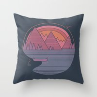 The Mountains Are Callin… Throw Pillow