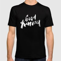 Good Karma Mens Fitted Tee Black SMALL