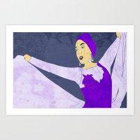 Showgirl 2 Art Print